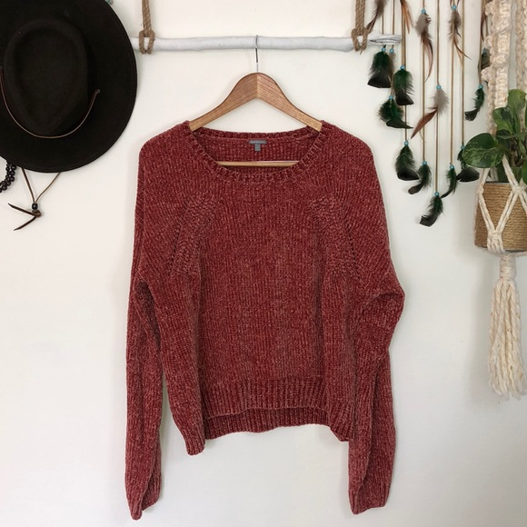 Charlotte Russe Sweaters - Charlotte Russe lobster colored chenille knit
